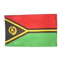 5x8 ft. Nylon Vanuatu Flag with Heading and Grommets