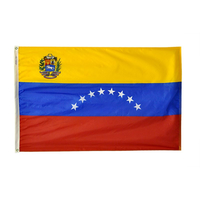 5x8 ft. Nylon Venezuela Flag with Heading and Grommets