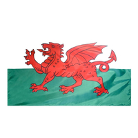 4x6 ft. Nylon Wales Flag with Heading and Grommets