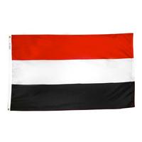 2x3 ft. Nylon Yemen Flag with Heading and Grommets