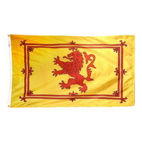 2x3 ft. Nylon Scotland (Lion) Flag with Heading and Grommets