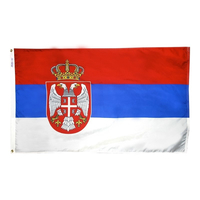 3x5 ft. Nylon Republic of Serbia Flag with Heading and Grommets