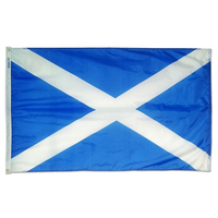 2x3 ft. Nylon Scotland of St Andrews Cross Flag with Heading and Grommets