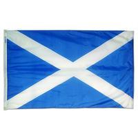 2x3 ft. Nylon Scotland of St Andrews Cross Flag Pole Hem Plain