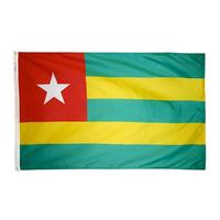 4x6 ft. Nylon Togo Flag Pole Hem Plain