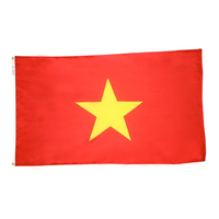 5x8 ft. Nylon Vietnam Flag with Heading and Grommets
