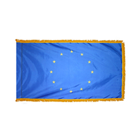 4x6 ft. Nylon Council Europe Flag Pole Hem and Fringe