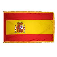 3x5 ft. Nylon Spain Flag Pole Hem and Fringe