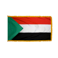 4x6 ft. Nylon Sudan Flag Pole Hem and Fringe