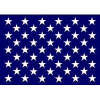 38x46 in. Nylon U.S. Jack Flag with Heading and Grommets