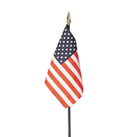 4x6 in. Heritage U.S. Flag Spearheads