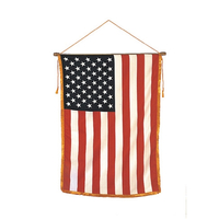16x24 in. Heritage Classroom U.S. Flag Vertical Banner Mounted Fringe
