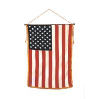 16x24 in. Heritage Classroom U.S. Flag Vertical Banner Mounted Fringe