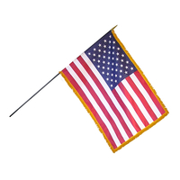 16x24 in. Heritage U.S. Flag Spearheads Fringe