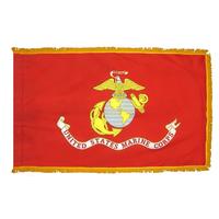 3x5 ft. Nylon Marine Corps Flag Pole Hem and Fringe