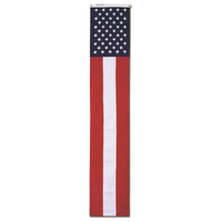 20 in.x8 ft. Nylon Pull Down Embroidered Stars