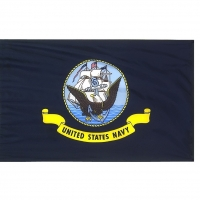 4x6 ft. Nylon Navy Flag Pole Hem Plain