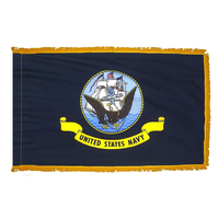 4x6 ft. Nylon Navy Flag Pole Hem and Fringe