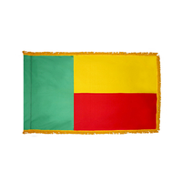 4x6 ft. Nylon Benin Flag Pole Hem and Fringe