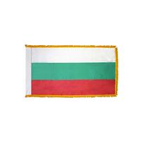2x3 ft. Nylon Bulgaria Flag Pole Hem and Fringe