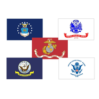 4x6 ft. Nylon Armed Forces 5 Flag Set Pole Hem and Fringe