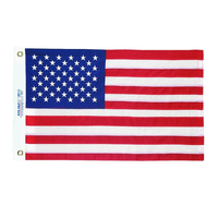 12x18 in. Nylon U.S. Flag with Heading and Grommets