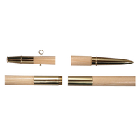 9 ft.x1-1/4 in. Ash Guido - Brass