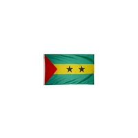 2x3 ft. Nylon Sao Tome / Principe Flag with Heading and Grommets
