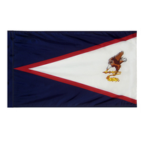 4x6 ft. Nylon American Samoa Flag Pole Hem Plain