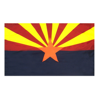 3x5 ft. Nylon Arizona Flag Pole Hem Plain