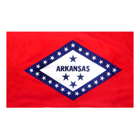 4x6 ft. Nylon Arkansas Flag Pole Hem Plain
