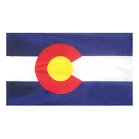 3x5 ft. Nylon Colorado Flag Pole Hem Plain
