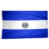 2x3 ft. Nylon El Salvador Flag with Heading and Grommets