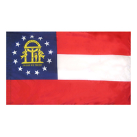 3x5 ft. Nylon Georgia Flag Pole Hem Plain