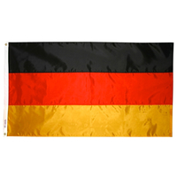 2x3 ft. Nylon Germany Flag Pole Hem Plain