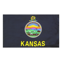 4x6 ft. Nylon Kansas Flag Pole Hem Plain