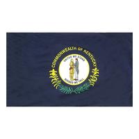 3x5 ft. Nylon Kentucky Flag Pole Hem Plain