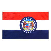 4x6 ft. Nylon Missouri Flag Pole Hem Plain