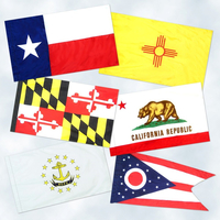 3x5 ft. Set Nylon 50 State Flag Pole Hem Plain