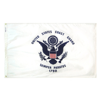 3x5 ft. Nylon Coast Guard Flag with Heading and Grommets