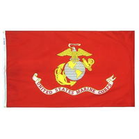 5x8 ft. Nylon Marine Corps Flag with Heading and Grommets