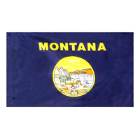 3x5 ft. Nylon Montana Flag Pole Hem Plain