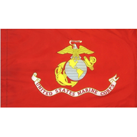 3x5 ft. Nylon Marine Corps Flag Pole Hem Plain