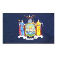 3x5 ft. Nylon New York Flag Pole Hem Plain