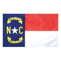 4x6 ft. Nylon North Carolina Flag Pole Hem Plain