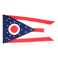 4x6 ft. Nylon Ohio Flag Pole Hem Plain