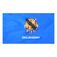 3x5 ft. Nylon Oklahoma Flag Pole Hem Plain