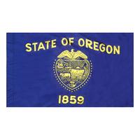 4x6 ft. Nylon Oregon Flag Pole Hem Plain