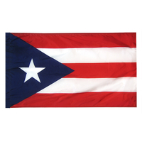 4x6 ft. Nylon Puerto Rico Flag Pole Hem Plain