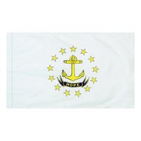 4x6 ft. Nylon Rhode Island Flag Pole Hem Plain